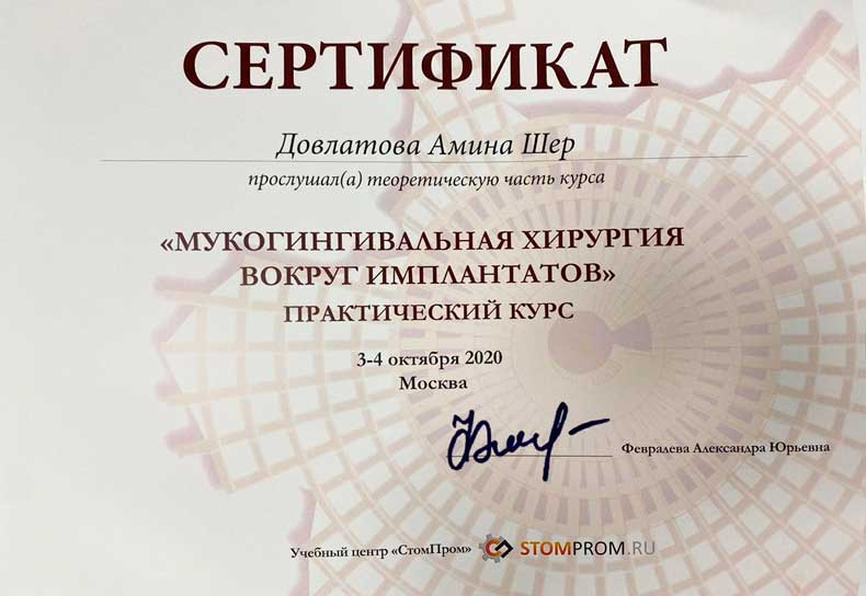 Довлатова Амина Шер