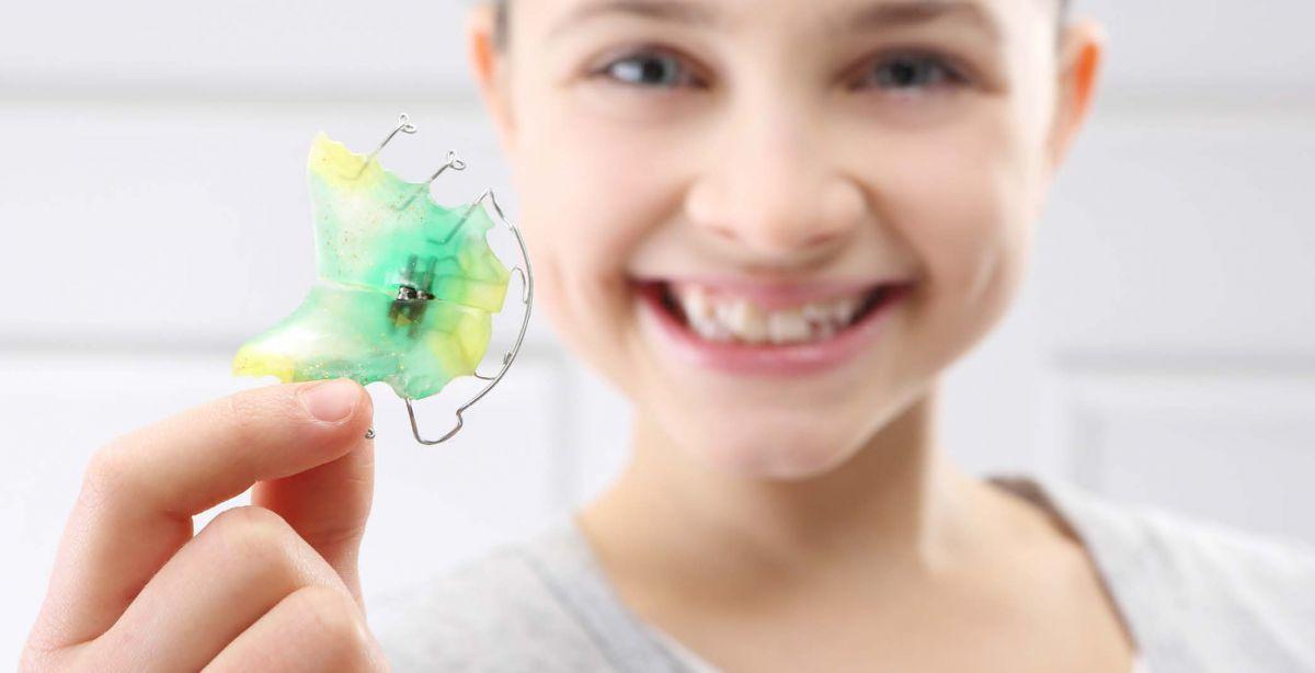 Пластинка для зубов детям